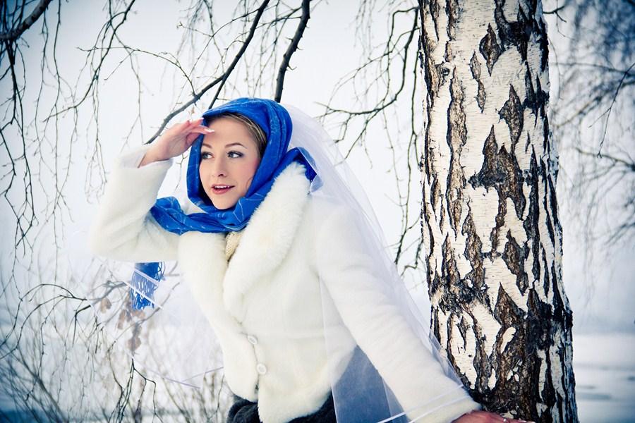 Красивые фото на улице зимой